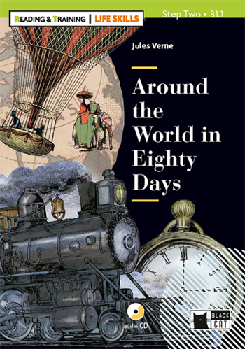 Around the World in Eighty Days - Niveau 2 (Bog + CD + Download)